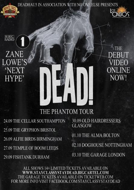 Dead tour poster